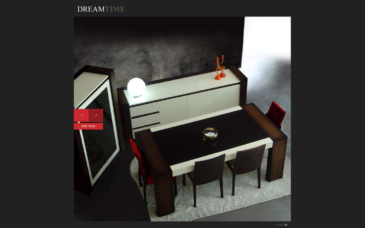 dreamtime furniture web page design
