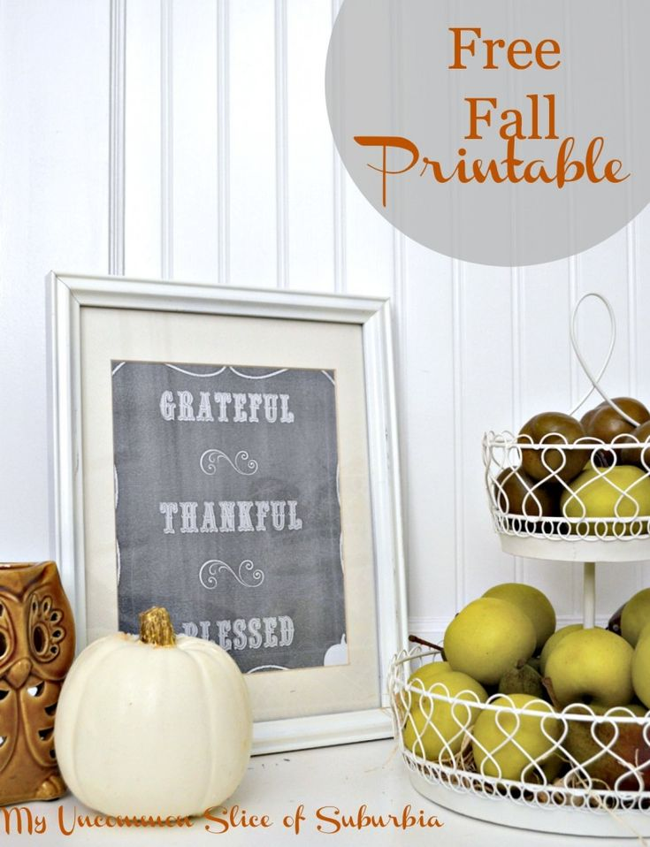 Simple Fall Vignette and FREE printable