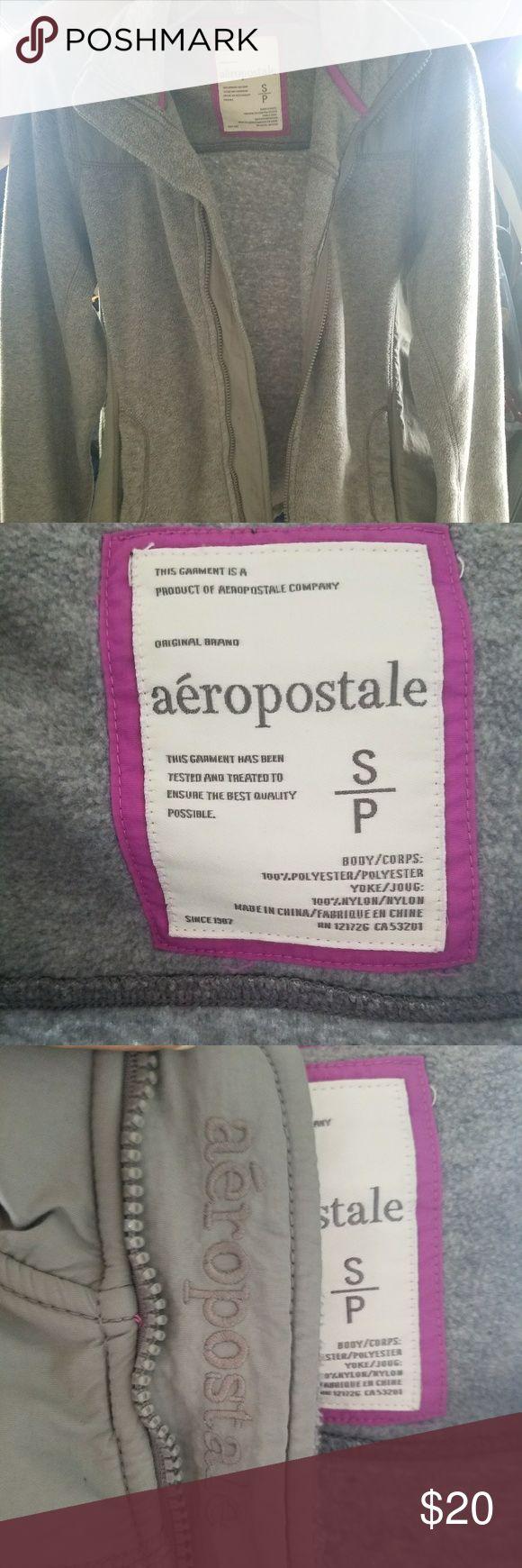 Aeropostale Fleece zip up warm jacket (Small) Comfy neutral jacket styled like a common Northface jacket. No flaws, smoke-free home. OFFERS ACCEPTED! (: Aeropostale Jackets & Coats