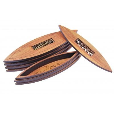 Endeavour Box Nikau Small. An innovative boat shaped box inspired by Captain Cook's first journey. Constructed from New Zealand Rimu veneer with a detailed Nikau palm leaf design Kauri inlay. The open box reveals 'Made in New Zealand' engraved on the inner base. A great gift or souvenir that's a little different and entirely NZ Made. Perfect for corporate gifting or to mark a special occasion such as a fifth 'Wood' wedding anniversary. See more at www.entirelynz.co.nz/gifts