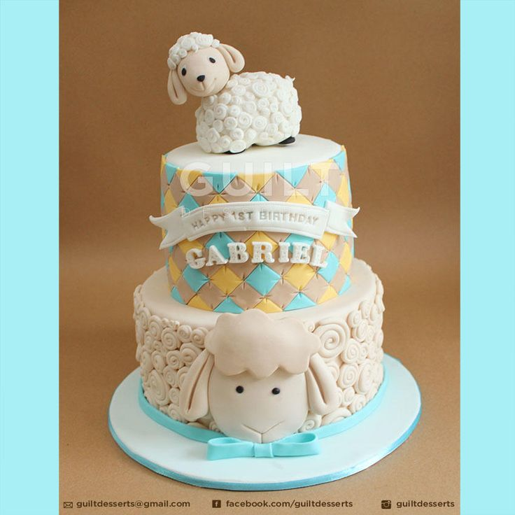 Sheep Birthday cake by Guilt Desserts
