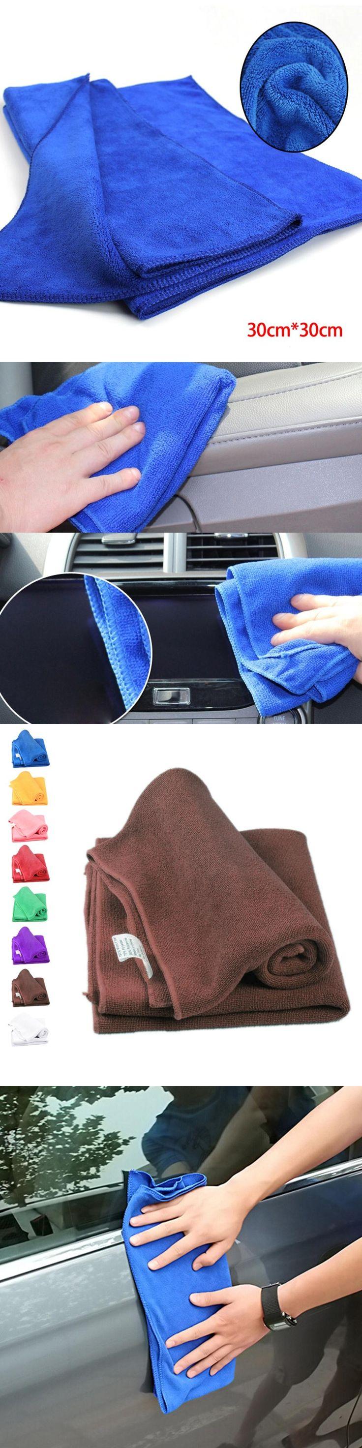 22*22cm Microfiber Face Hair Clean Car polishing Streak-Free Towel cloth