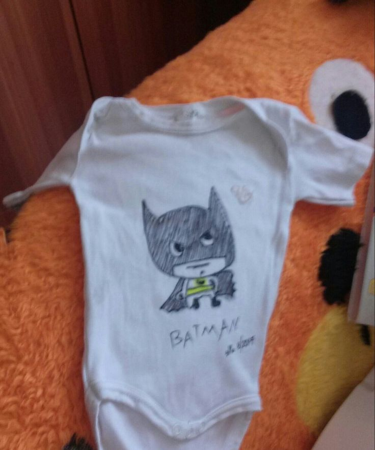 Handpainted batman baby bodysuit!