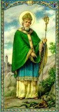 St Patrick banishes the snakes