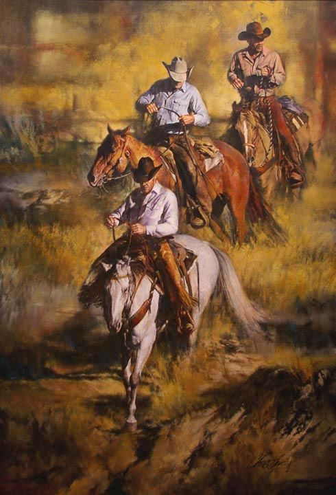 """Chris Owen Western Art """"Rough Country""""--i hope i turn out rich and can afford to make my house super country"""