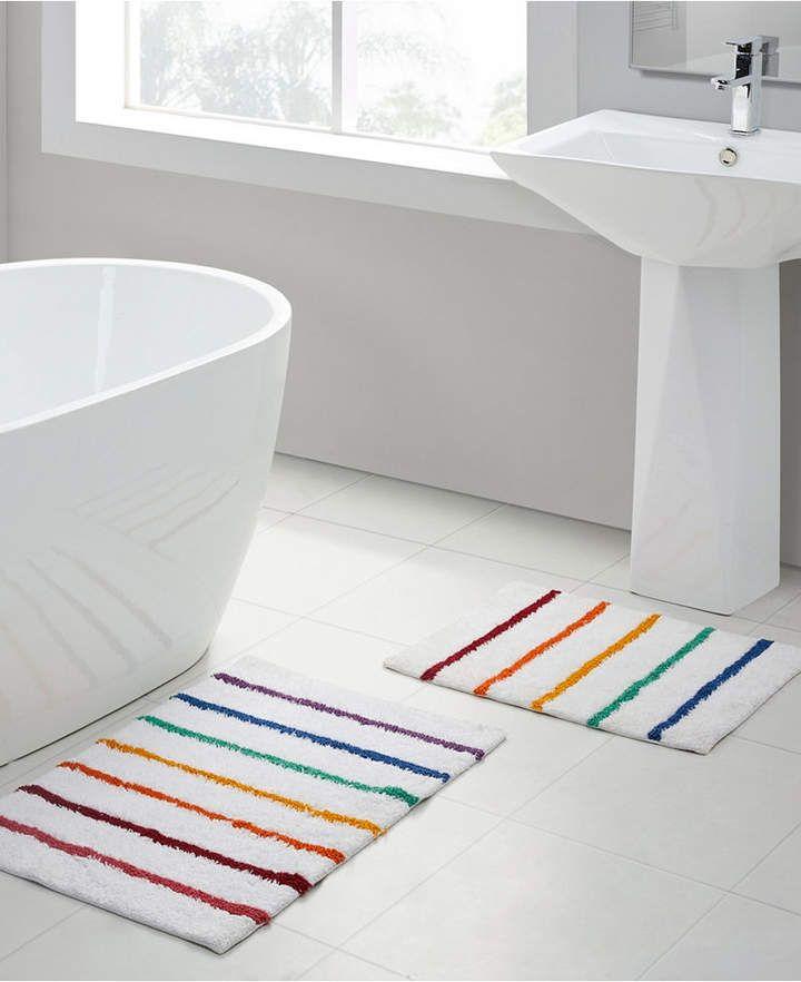 Vcny Home Rainbow Stripe 2 Pc Bath Rug Set Reviews Bath Rugs Bath Mats Bed Bath Macy S In 2020 Bath Rugs Sets Bath Rugs Vcny