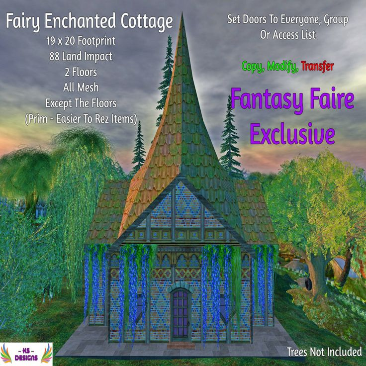 https://flic.kr/p/TVcGxF | ~ KS ~ Designs - Fairy Enchanted Cottage (Fantasy Faire 2017 Exclusive) | Will be at the Fantasy Faire which opens on the 20th April till the 30th April 2017. Find me on The Hill sim.  Landmark to follow when the Faire is open