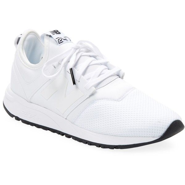 New Balance Women's Patch Low-Top Sneaker - White, Size 7 (€40) ❤ liked on Polyvore featuring shoes, sneakers, white, low top, fleece-lined shoes, new balance trainers, white sneakers and white trainers