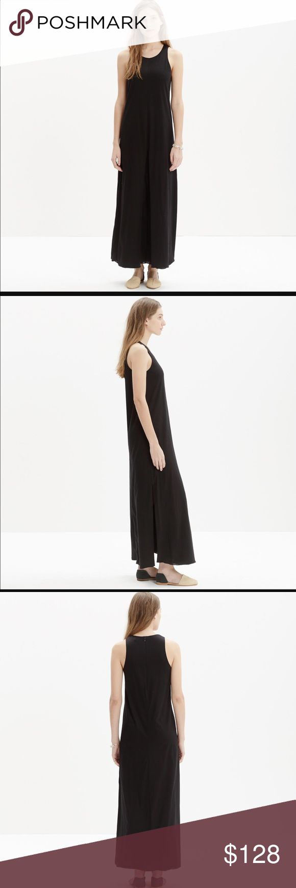 NWT Madewell black tank maxi dress Brand new with tags. Size 4. Features back zipper and slit hem. 100% cotton. Sold out in stores. Madewell Dresses Maxi