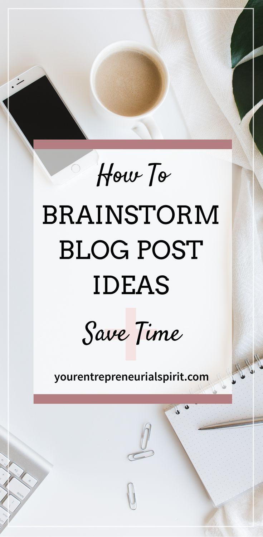 Brainstorm blog post ideas