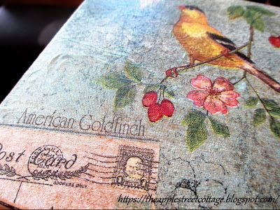 How To Decoupage Dresser Drawers - With Napkins!