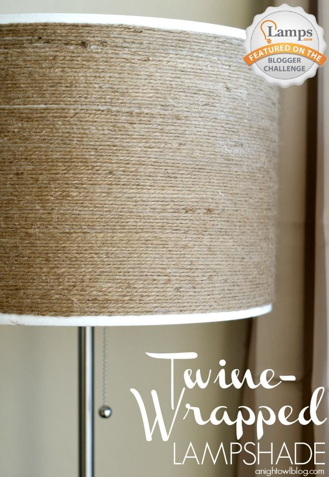This DIY twine-wrapped lampshade can give your room a simple, neutral, and natural look.