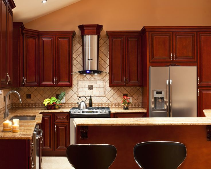 Modern Cherry Kitchen Cabinets 19 best design - contemporary cherry cabinets images on pinterest