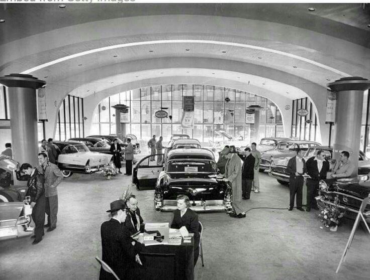 Vintage Car Dealership Showroom Vintage cars, Antique