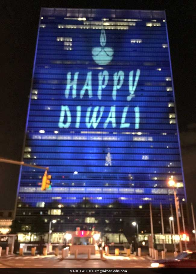 United Nation celebrates Diwali for the first time, Headquarters lit up to mark the celebrations.