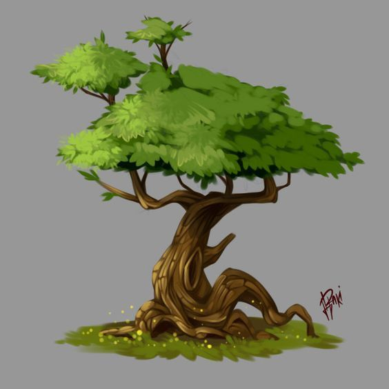 Tree 1. Concept Art of Nature, Raki Martinez on ArtStation at https://www.artstation.com/artwork/1wxaq: