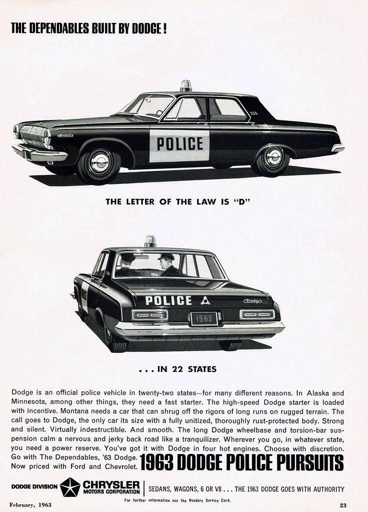 1963 Dodge Police Pursuits