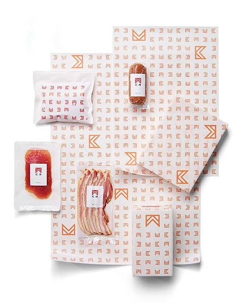 hagiwara butcher packaging design