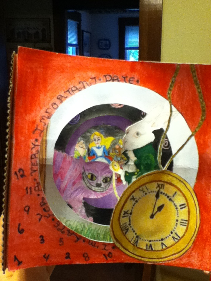 Alice In Wonderland Book Report Ideas : Best tunnel books images on pinterest book