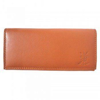 - Zacht kalf leder portemonnee in cognac kleur