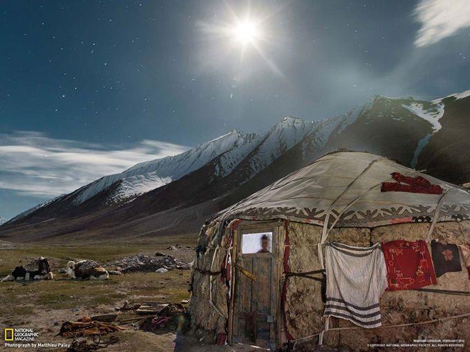 クルグズ人の移動式住居「ユルタ」 (アフガニスタン・ワハーン回廊)