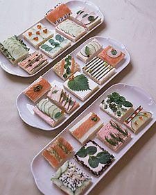 Tea sandwich as art