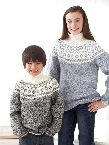 Yoke Sweaters   Yarn   Free Knitting Patterns   Crochet Patterns   Yarnspirations