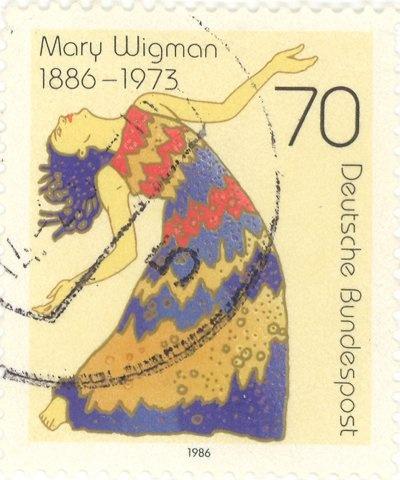 1986 Germany - Mary Wigman (1886-1973), dancer-choreographer