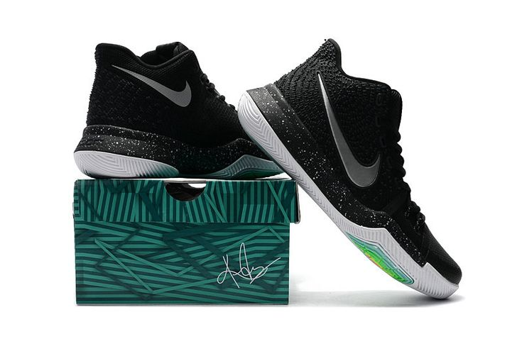 Kyrie Irving Shoes 3 2017 Black Ice Voltage Green Silver