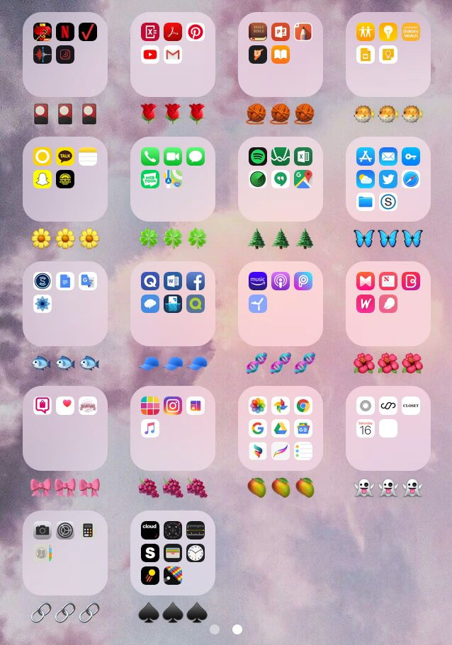 Color Coded Apps Iphone Iphone Colors Organize Phone Apps Homescreen Iphone
