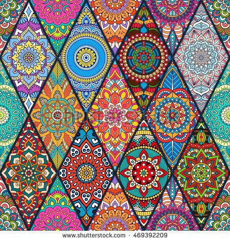 Seamless tile pattern, moroccan tile pattern, bohemian tile, mandala tile pattern, vector design tile pattern, indian tile pattern, colorful tile, pink tile pattern, tribal design tile pattern