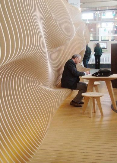 Wood moving in a natural form architecture | decor…
