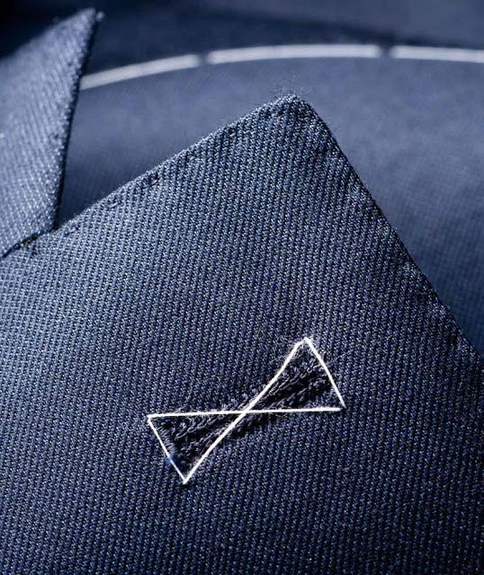Taking care of the details. A tacked buttonhole.