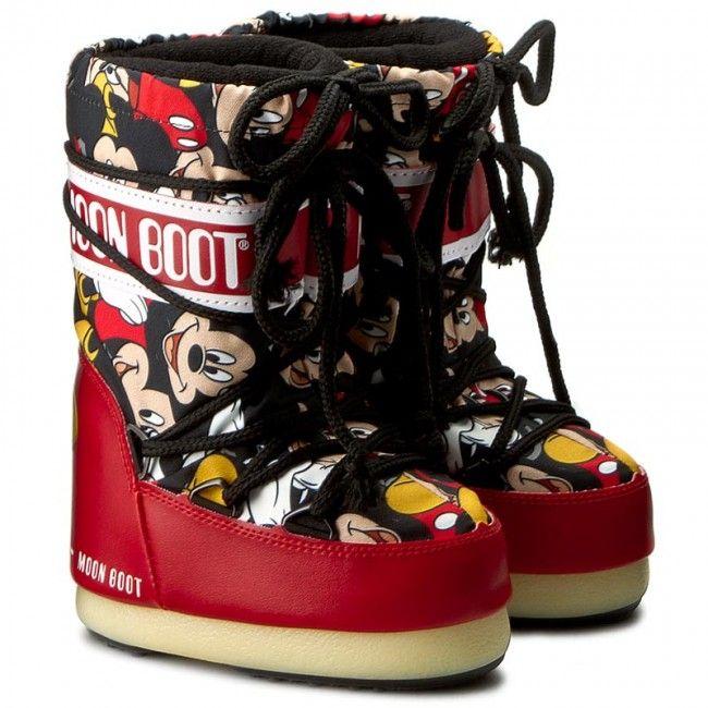 Снегоходы MOON BOOT - Jr Mickey 34000600001 Rosso/Nero