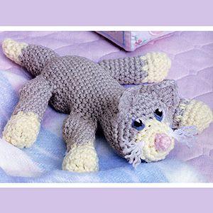 Crochet Bean Bag Tutorial : Bean Bag Kitty Crochet ePattern