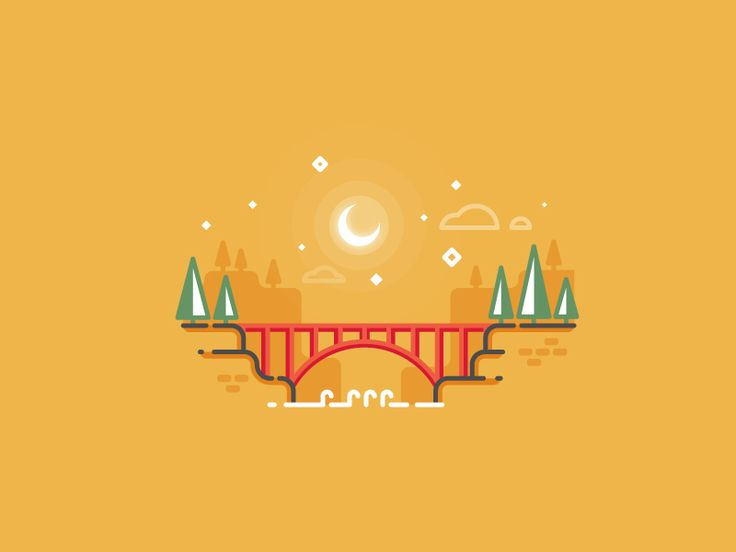 Bridge outline illustration by Infographic Paradise #Design Popular #Dribbble #shots