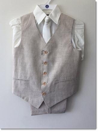 Linen 4 piece suits