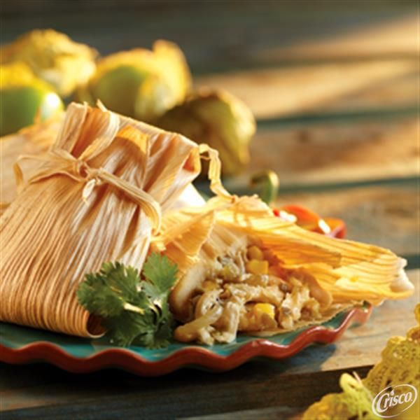 Chicken and Salsa Tamales from Crisco®