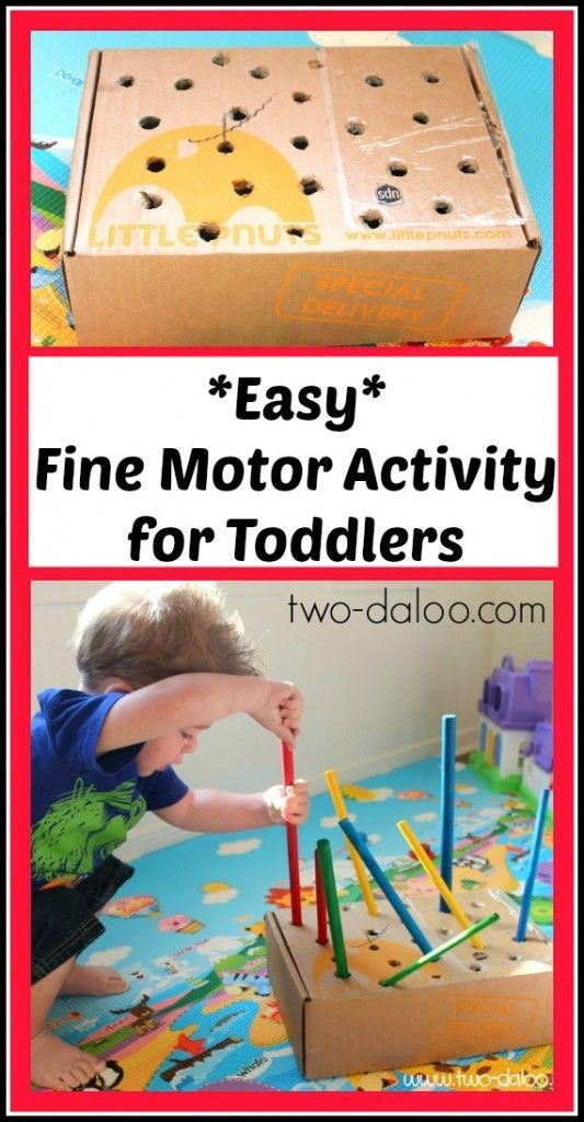 Easy fine motor activity for toddlers cardboard boxes for Motor skills for toddlers