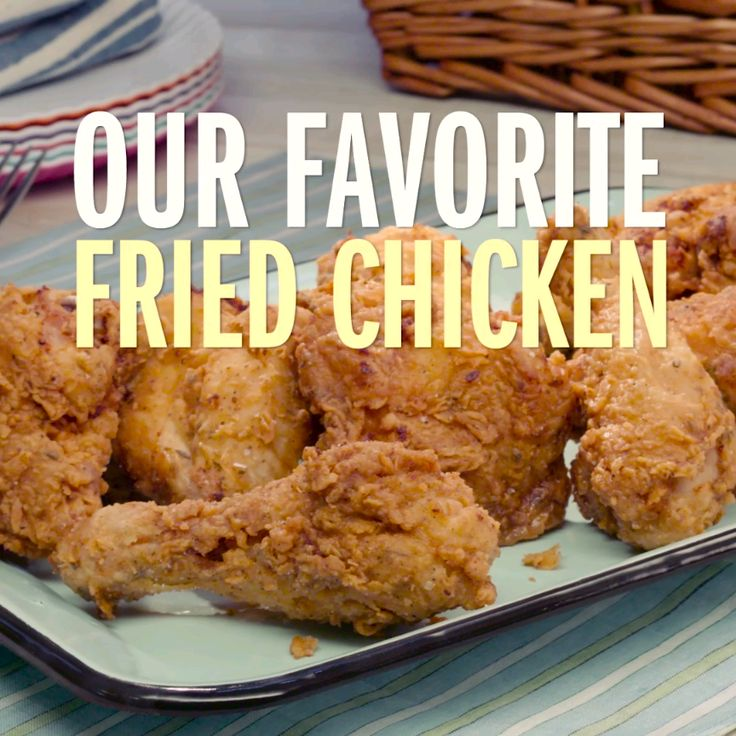 No picnic would be complete without some good fried chicken. Our favorite fried chicken starts with an herbed buttermilk brine, gets dipped in a spiced breading and is finished by frying to crispy perfection. Brought to you from our Food Network Kitchen.