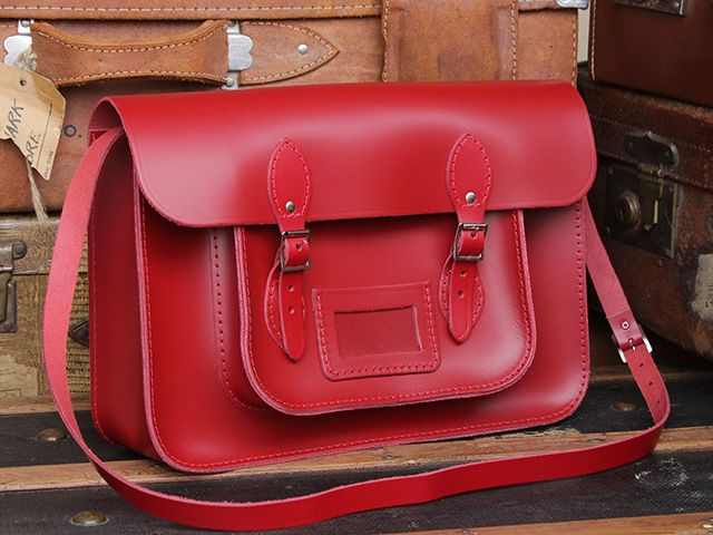 Classic Red Leather Satchel 15 Inch https://www.scaramangashop.co.uk/item/7569/99/Gifts-For-Women/Classic-Red-Leather-Satchel-15-Inch.html