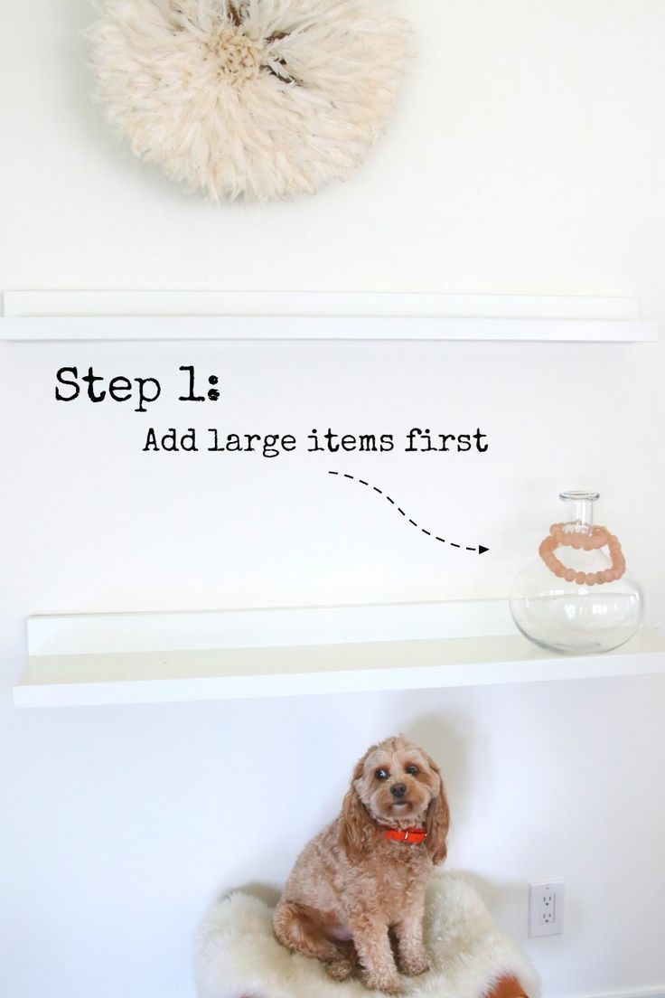 Step by Step Instructions on how to style your bookshelves! Easy tips and tricks for our shelves