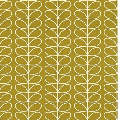 Linear Stem (110401) - Orla Kiely Wallpapers - A pretty small scale design of Orla Kiely's stem. Shown in a white outline on antique green - more colours are available. Please request a sample for true colour match. Paste-the-wall product. 4.2cm pattern repeat.