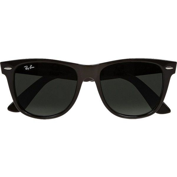 Pre-owned Large 54mm Original Wayfarer Polarized Sunglasses found on Polyvore featuring accessories, eyewear, sunglasses, glasses, black, polarized wayfarer sunglasses, black wayfarer glasses, black wayfarer, wayfare and wayfarer glasses