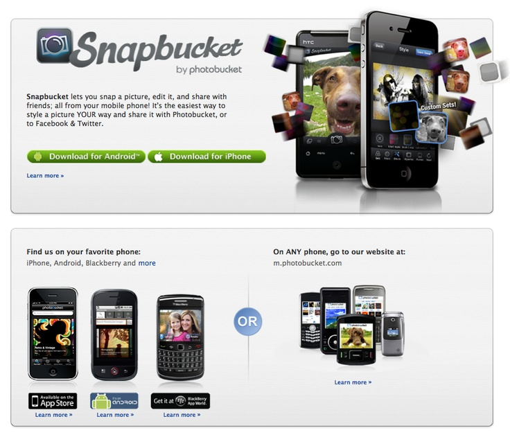 Photobucket is mobile just like you!  Get our free apps for iOS, Android, Blackberry and more.