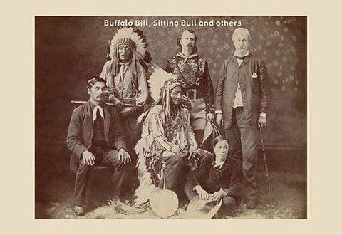 Buffalo Bill, Sitting Bull, & Friends vintage print