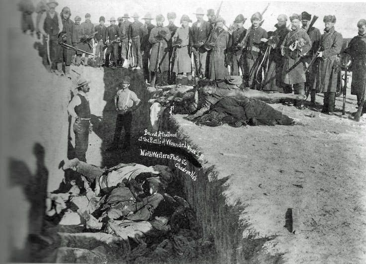 a history of the battle on the wounded knee creek Native american history timeline  in the battle,  a battalion of the seventh cavalry opens fire on the sioux camp on the wounded knee creek,.