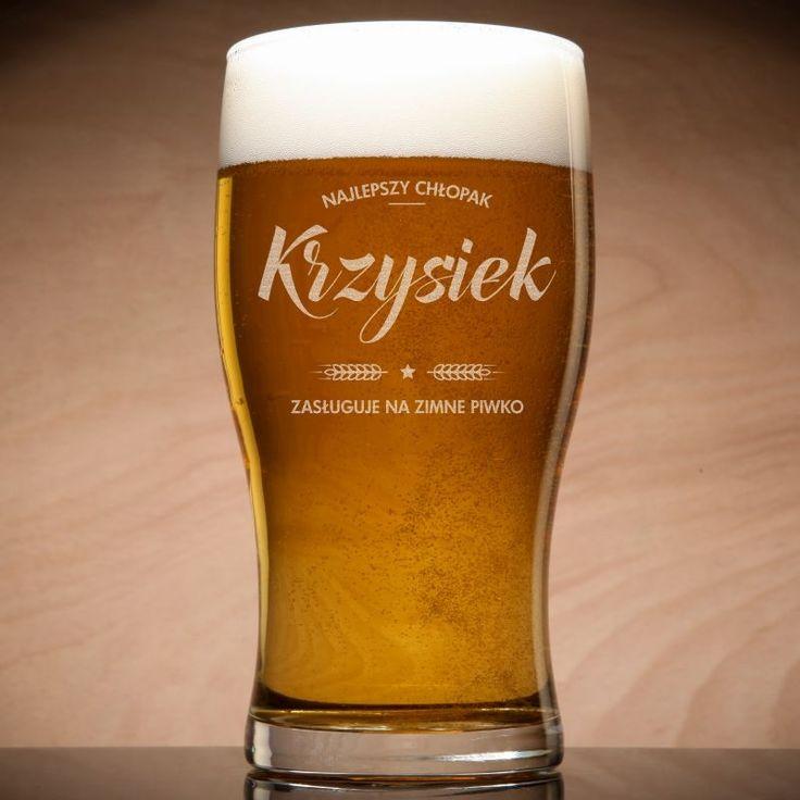 Grawerowana szklanka do piwa ZIMNE PIWKO