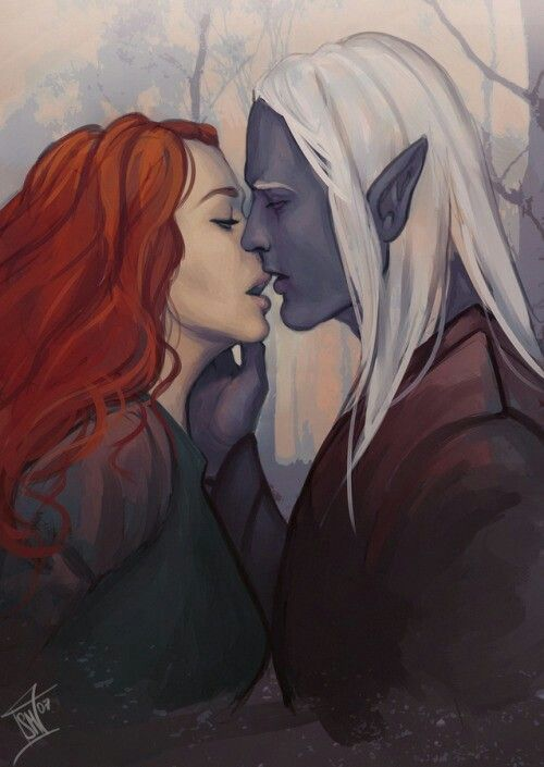 Aster and Thantus ///////////  Drizzt and Cattie-bre