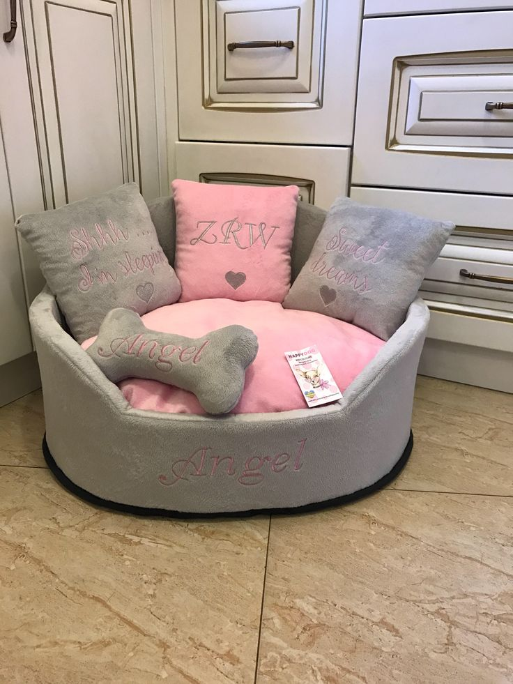 A personal favorite from my Etsy shop https://www.etsy.com/listing/581980811/light-grey-and-baby-pink-princess-dog